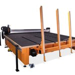 Float glass cutting table RUBI 303B.