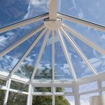 Glass conservatory roof system