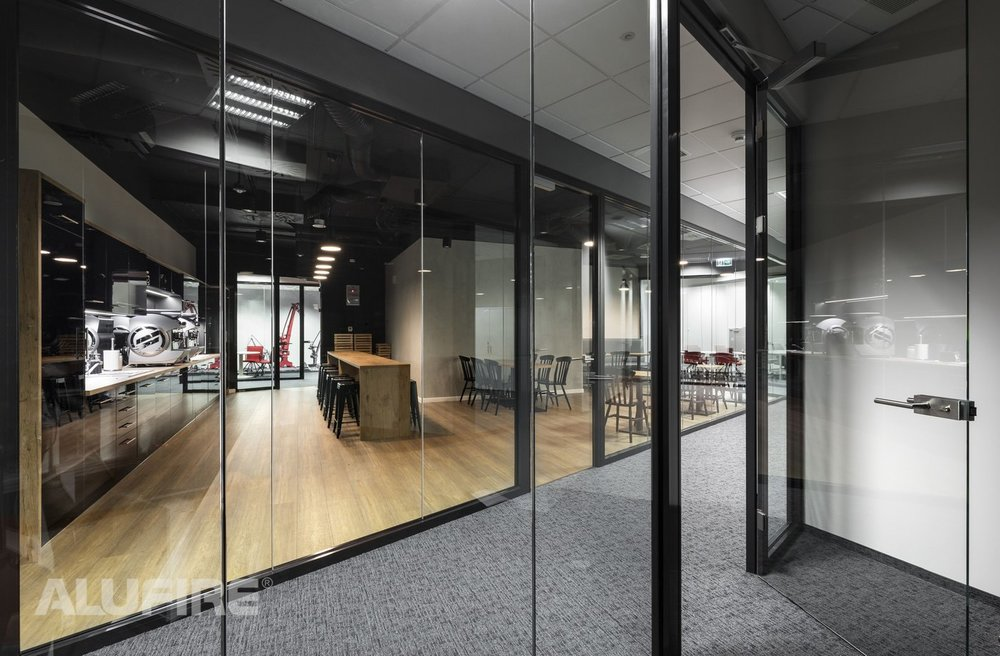 New headquarters WP with fire-resistant aluminium systems from ALUFIRE