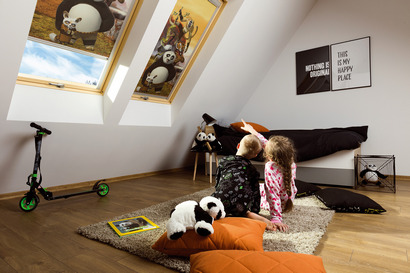Roller blind ARF DreamWorks The main task of internal accessories is to enhance interior design and regulate the amount of light entering the room.
