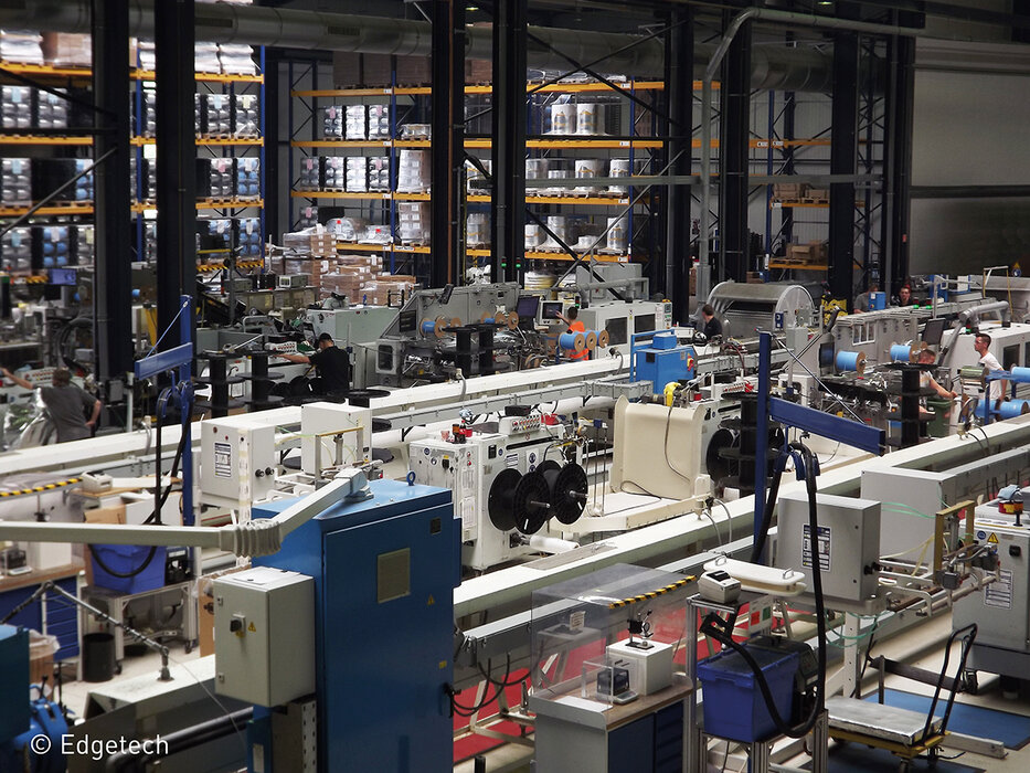 Edgetech production line in Heinsberg