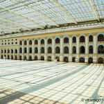 The historical Moscow shopping centre Gostiny Dvor is covered by a 12,500 square metre glass roof.