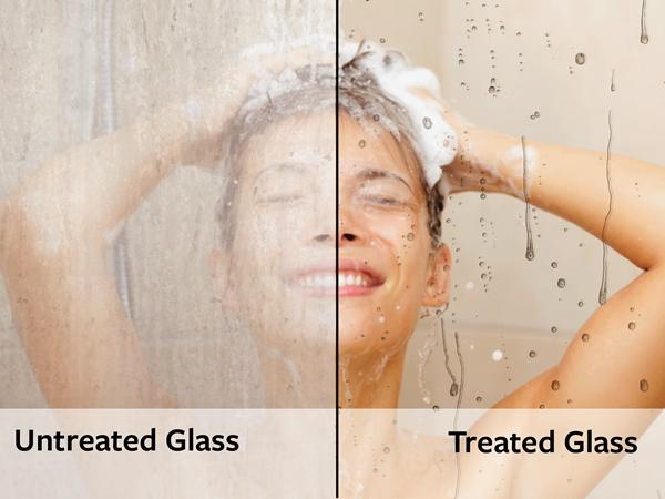 Untreated glass/ treated glass