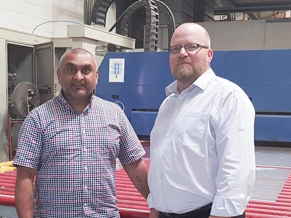 Super Sealed Units Ltd's Sanjay Meghani, Director, and John Trott, General Manager, the newest addition to the company's expanding team.
