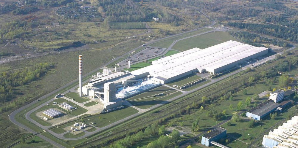 Guardian's float glass plant in Czestochowa, Poland.