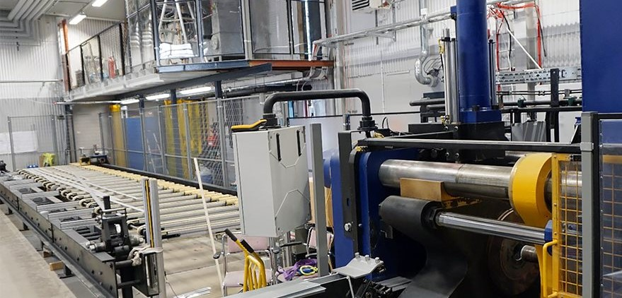 New extrusion press Finspång Sweden