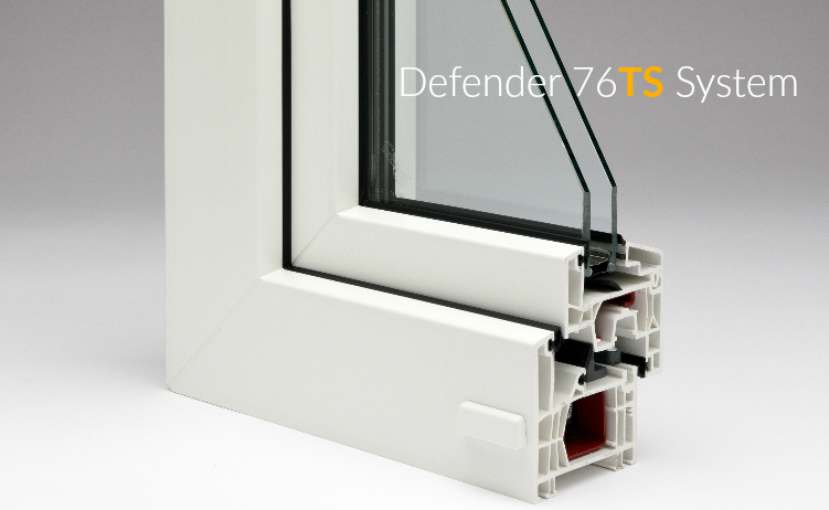 The Defender 76TS System is available with double or triple panes.