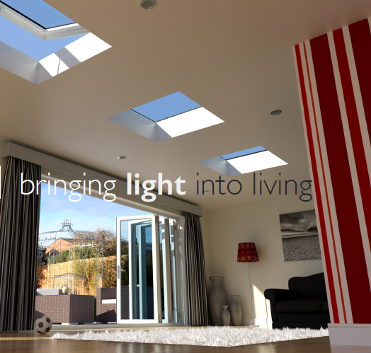 The new Flat Rooflight System floods the space below with natural light all year round creating a contemporary living space.