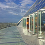 NanaWall Folding System SL70 on the 28th floor of the Memphis Pyramid in Tennessee