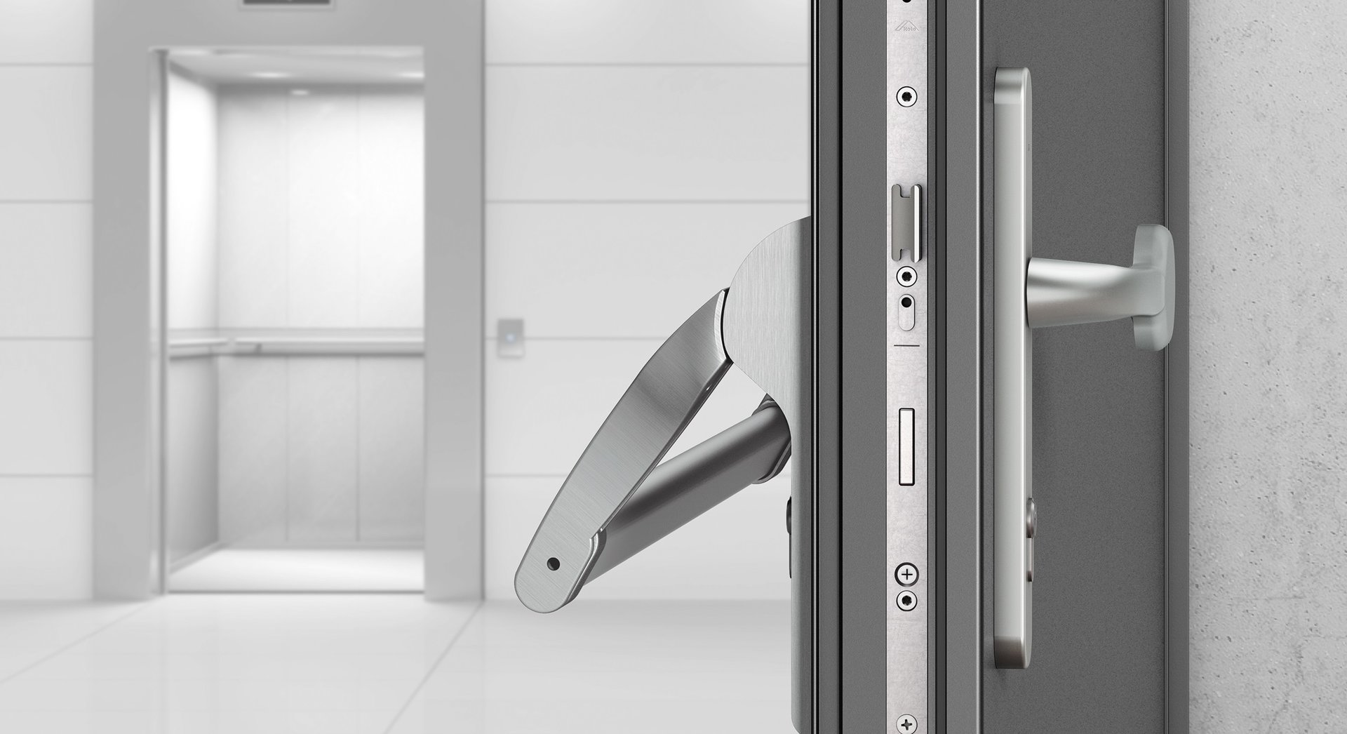 Interconnected technology for external doors