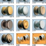 Anodized aluminium knobs