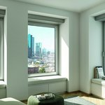 The Schüco VentoTherm Twist ventilation system can be integrated horizontally or vertically in the window.