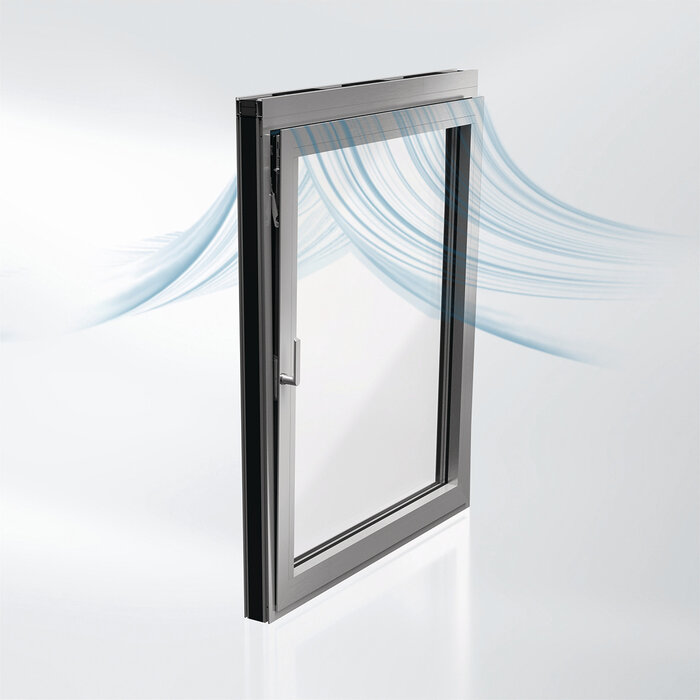 The new Schüco AWS 90 AC.SI acoustic window allows sound reduction of 31 dB to be achieved in the tilt position.